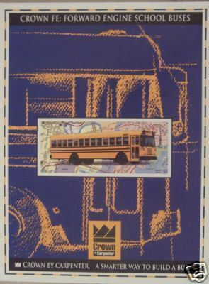 Primary image for 1995 Crown FE Transit Style School Bus Color Brochure