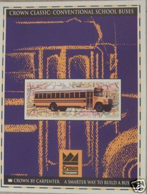 Primary image for 1995 Crown Conventional Style School Bus Color Brochure