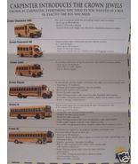 1996 Carpenter School Bus Bodies Full Line Brochure - $7.00