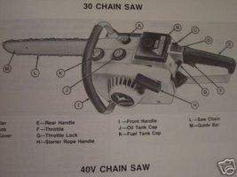 John Deere 30, 40V Chain Saws Operator's Manual - $10.00