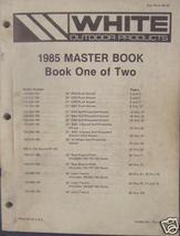 1985 White Lawn & Garden Equipment Master Parts Books - $32.00