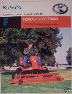 Primary image for 2005 Kubota F2880E, F2880, F3680 Front Mowers Brochure