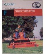 2005 Kubota F2880E, F2880, F3680 Front Mowers Brochure - $8.00