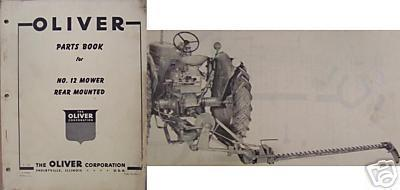 Primary image for Oliver 12 Sickle Mower for Super 77 Tractor - Parts Manual