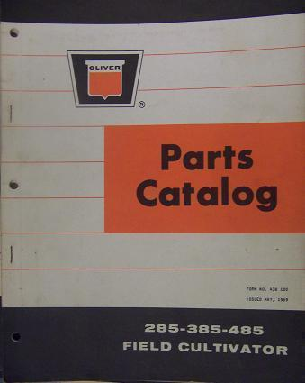 Primary image for Oliver 285, 385, 485 Field Cultivators Parts Manual