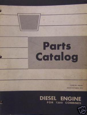 Primary image for Oliver 7300 Combine Diesel Engine Parts Manual