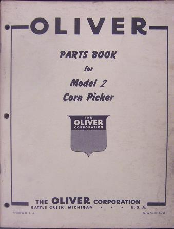 Primary image for Oliver No.2 Pull-Type Corn Picker Parts Manual