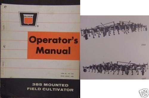 Primary image for Oliver 385 Field Cultivator Operator's Manual