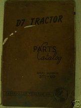 Caterpillar D7 Crawler Parts Manual - Original - $24.00