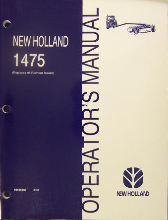 Primary image for New Holland 1475 Mower Conditioner Operator's Manual