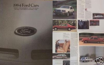 Primary image for 1984 Ford Cars Full Line Brochure - Tempo, Thunderbird, LTD, Mustang & More