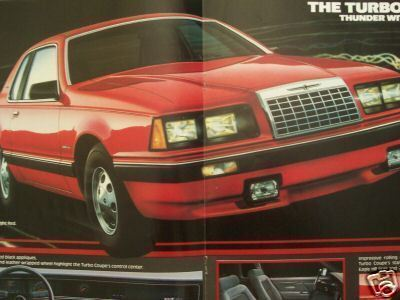 Primary image for 1983 Ford Thunderbird Brochures - Lot of Two Different Ones