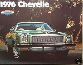 1976 Chevrolet Chevelle Brochure - Original - $10.00
