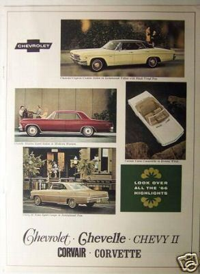 Primary image for 1966 Chevrolet Corvette, Chevelle, Chevy II, Malibu Full Line Brochure