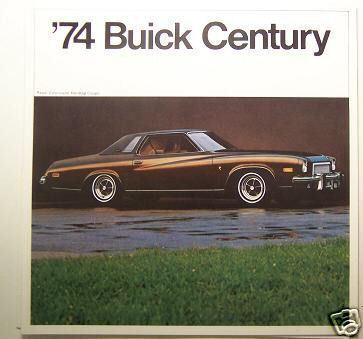 Primary image for 1974 Buick Century Original Color Brochure