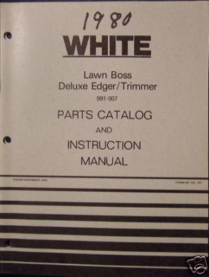 Primary image for White Yard Boss Lawn Boss Edger Operator's Manual - 1979