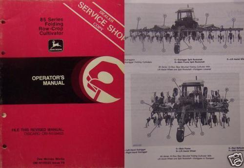 Primary image for John Deere 85 Folding Row Crop Cultivator Oper. Manual