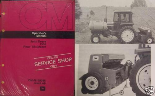 Primary image for John Deere 1500 Powr-Till Seeder Operator's Manual