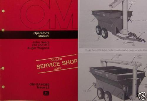 Primary image for John Deere 310, 210 Auger Wagons Operator Manual