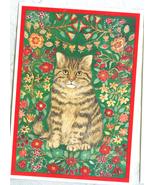 WFC 2 Cat Kitten Postcards Christmas Cat Felis botanica Mint Condition - $5.00