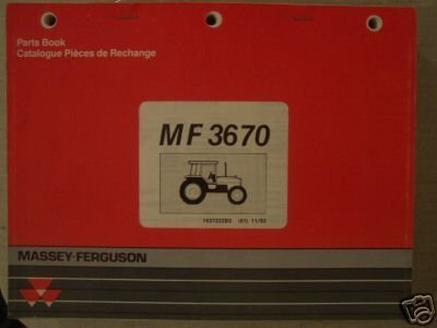 Primary image for Massey Ferguson 3670 Tractor Original Parts Manual