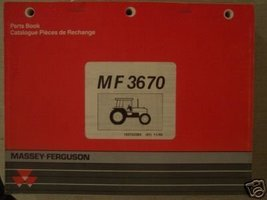 Massey Ferguson 3670 Tractor Original Parts Manual - $42.00