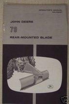 John Deere 78 Blade Original Operator's Manual - $10.99