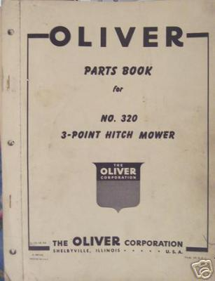 Primary image for Oliver 320 Sickle Mower Parts Manual - Original