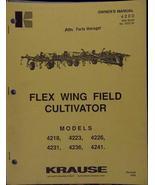 Krause 4200 Series Flex-Wing Field Cultivators Manual - $14.49