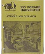 Papec 180 Forage Harvester Operator's Manual - $16.99