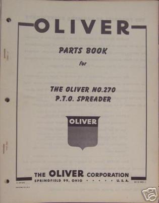 Primary image for Oliver 270 Manure Spreader Parts Manual