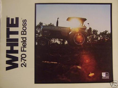 Primary image for White 2-70 Field Boss Tractor Brochure