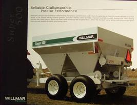 Willmar Super 500 Spreader Specifications Sheet - $5.00