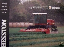 2002 Hesston 8250, 8250S, 8450, 8550S Self-Propelled Windrowers Brochure - $8.00