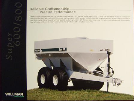 Willmar Super 600, Super 800 Spreaders Brochure
