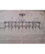 1948 International No. 8 Field Cultivator Operator/Parts Manual - French... - $9.00