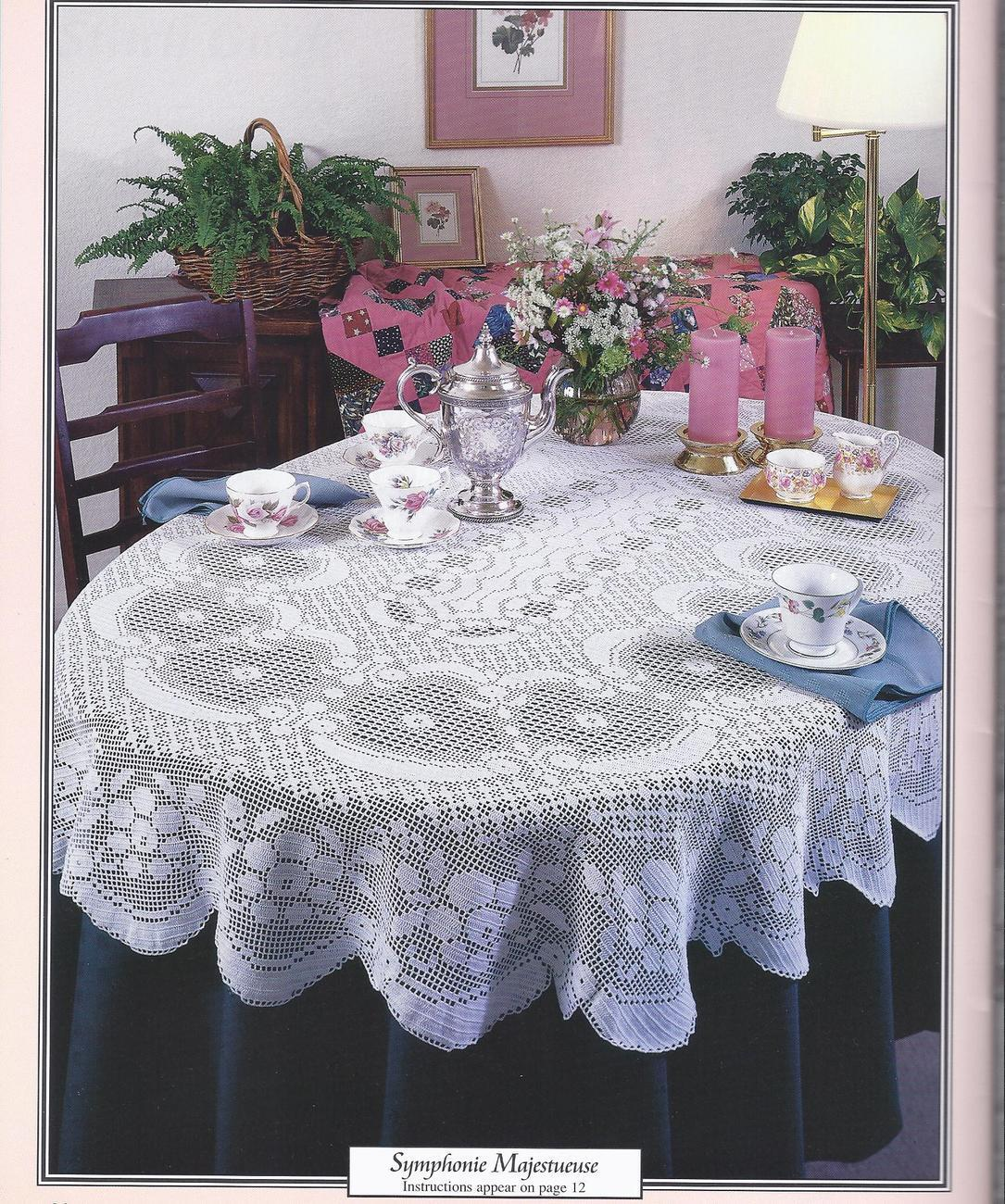 Http Www Bonanza Com Listings Gorgeous Oval Tablecloths Filet Crochet Patterns 5 Designs 87742011