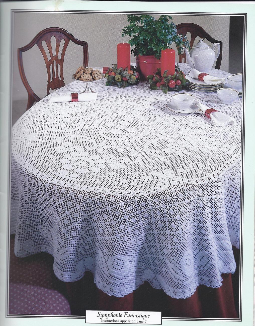 Gorgeous Oval Tablecloths Filet Crochet Patterns 5 Designs Home Decorators Catalog Best Ideas of Home Decor and Design [homedecoratorscatalog.us]