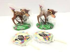 Cake Decoration Topper Figure Set Lot Bambi Disney Clover Thumber Pics D... - $9.75