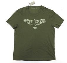 NWT John Varvatos Olive Short Sleeve Graphic Shirt Men's Size Large 100%... - $1.877,50 MXN