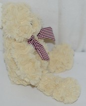 Baxters Bears Brand Light Brown Teddy With Maroon White Gingham Bow image 2