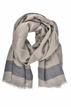 Borrelli Unisex FB80 Scarf Wool Grey Size OS - $113.58