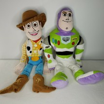 Disney Pixar Toy Story 3 Buzz Lightyear Woody Pair Plush Pillowtime Pals... - $39.55