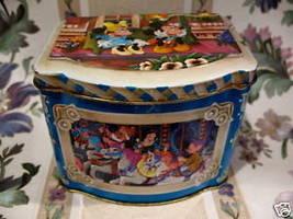 Mickey Mouse Minnie Mouse Tin Vintage Souvenir Horse Carousel Snow White Dwarfs - $14.95