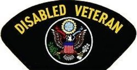 DISABLED VETERAN  EMBROIDERED MILITARY LOGO  PATCH - $13.53