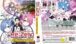 Re Zero Anime DVD Episodes 1-38 Season 1-2 + 2 Specials Japanese w/ Eng ... - $59.00