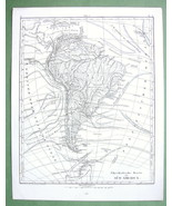 1844 MAP - SOUTH AMERICA + Sea Currents - $12.15