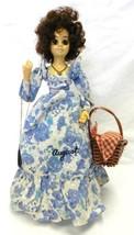 Brinns Doll August Flower Picnic Basket Birth Month Musical Calendar Vin... - $39.17