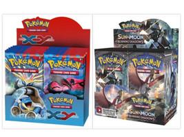 Pokemon TCG XY Base Set + Sun Moon Burning Shadows Booster Box Card Game... - $249.99