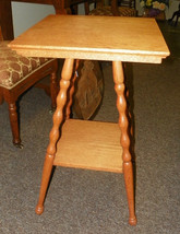 Light Oak 2 Tier  Lamp Table Side Table with Turned Legs - $239.78